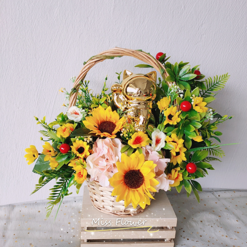 Opening Flower Basket 01