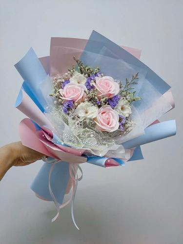Pink Soap Roses Bouquet