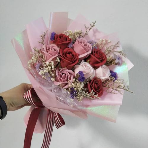 Mix Colour Soap Roses Bouquet