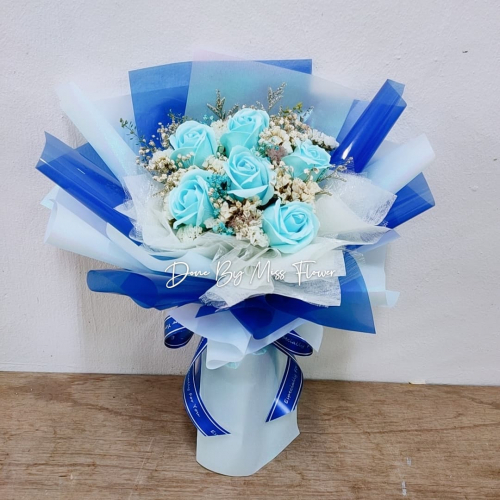Special Colour Soap Roses Bouquet