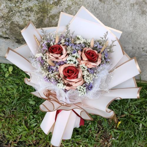 Money Soap Roses Bouquet 02