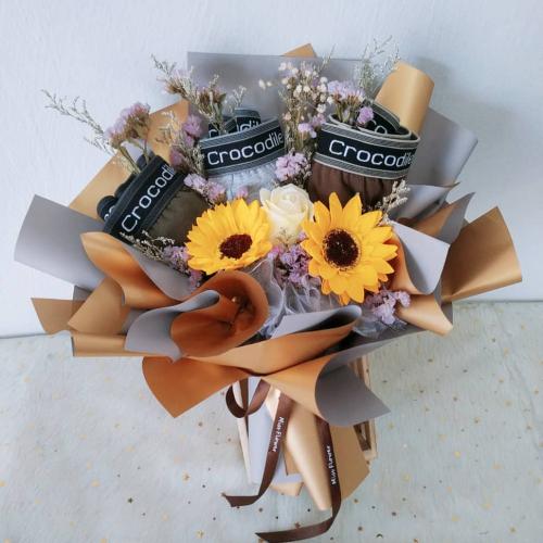 Creative soap sunflowers bouquet