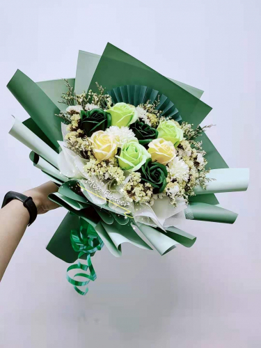 Soap Roses Bouquet (Green Series)