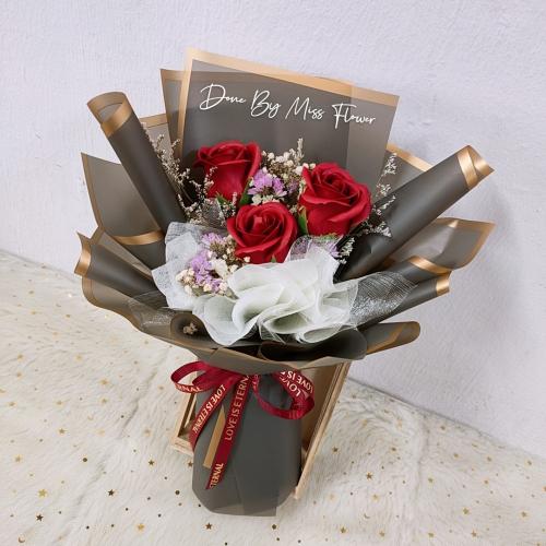 Soap Roses Bouquet (Black Series)