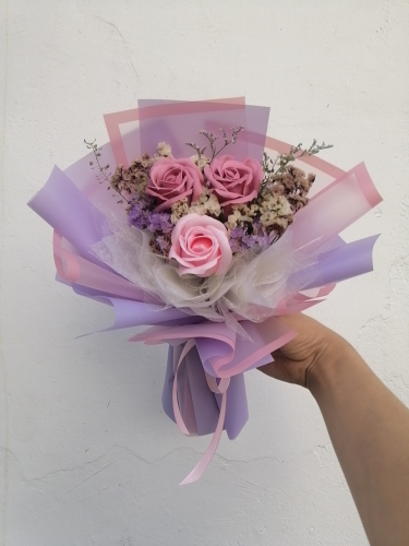 Soap Rose Bouquet (Purple Pink Series) 01