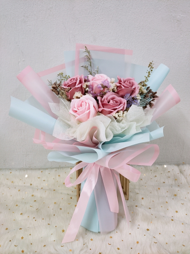 Soap Rose Bouquet (Pink Blue Series) 01