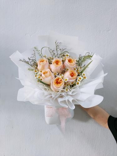 Fresh Orange Roses Bouquet 001