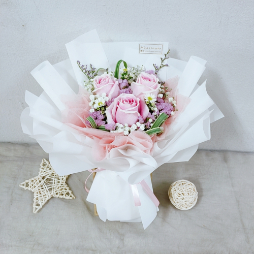 Pink Roses Bouquet 03