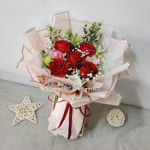 Fresh Red Roses Bouquet 007