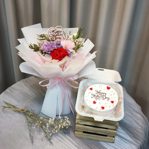 Mother's Day Package/ Flower+Cake (SET A)
