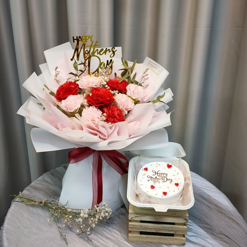 Mother's Day Package/ Flower+Cake (SET C)
