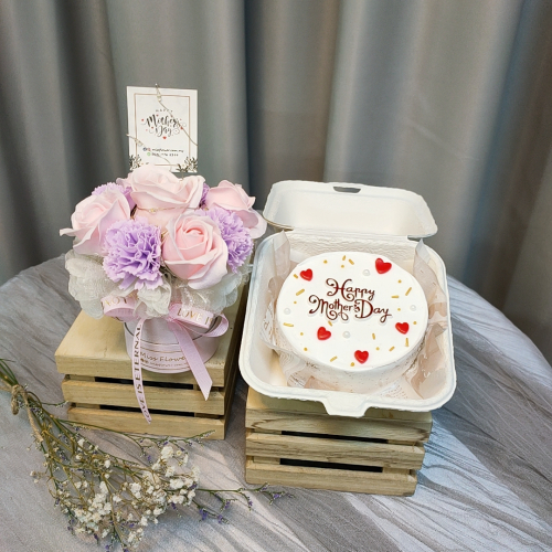 Mother's Day Package/ Flower+Cake (SET D Purple)