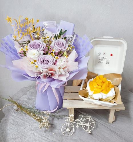 Birthday Package/ Flower+Cake Set 01