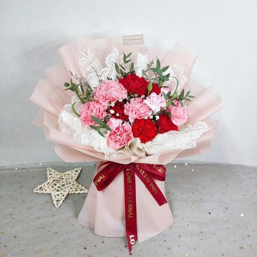 Mix Colour Fresh Carnation Bouquet 002