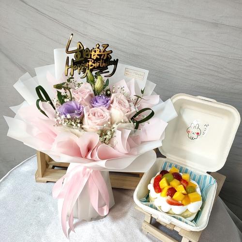 Birthday Package/ Flower+Cake Set 02