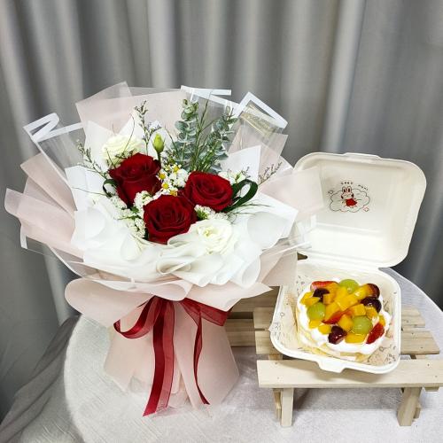 Birthday Package/ Flower+Cake Set 07