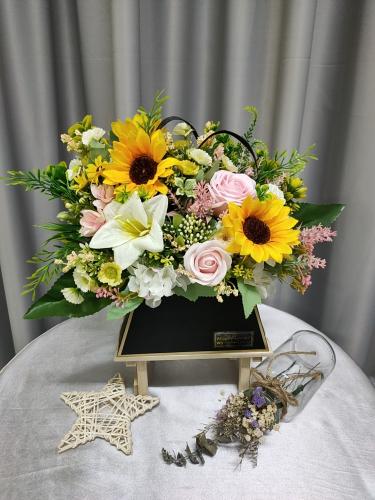 Opening Flower Basket 02