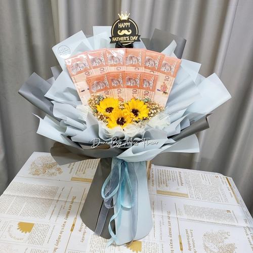 Soap sunflowers bouquet 07