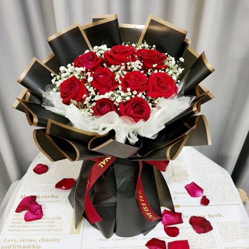 Fresh Red Roses Bouquet 009