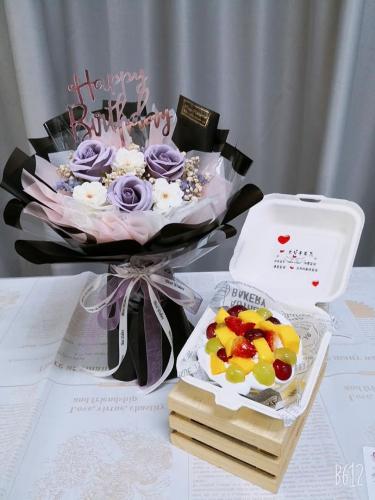 Birthday Package/ Flower+Cake Set 09