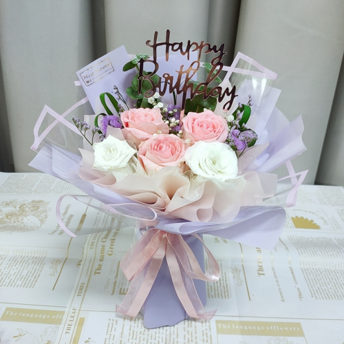 Pink Roses Bouquet 04
