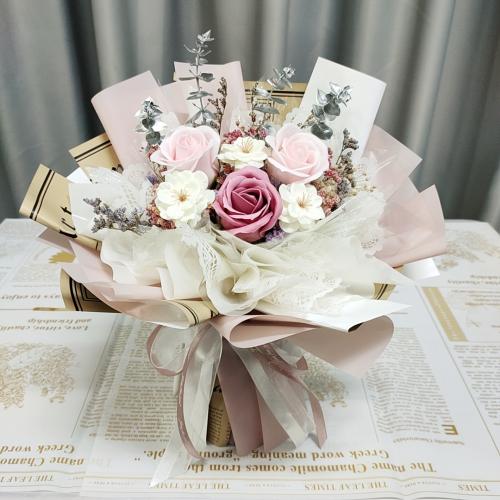 Pink Soap Roses Bouquet 02