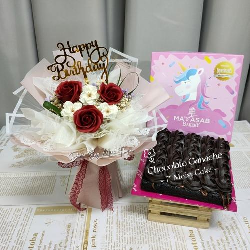 Birthday Package/ Flower+Cake Set 16