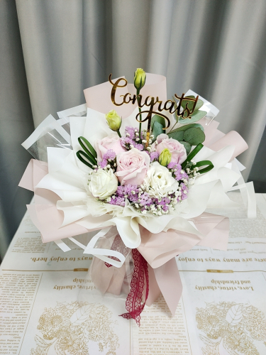 Pink Roses Bouquet 06