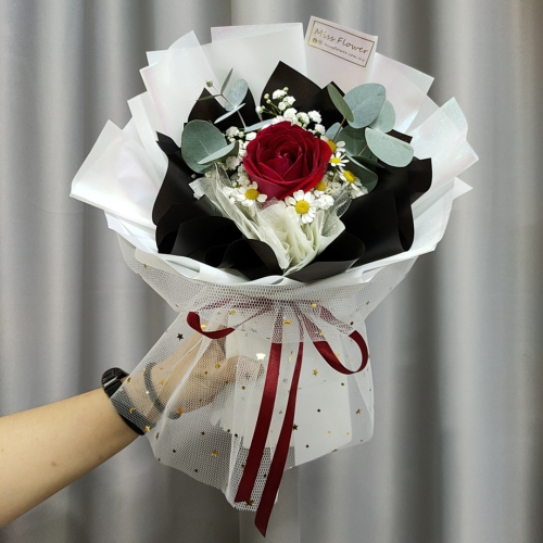 Fresh Red Roses Bouquet 012