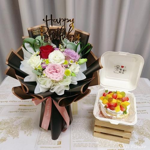 Birthday Package/ Flower+Cake Set 23