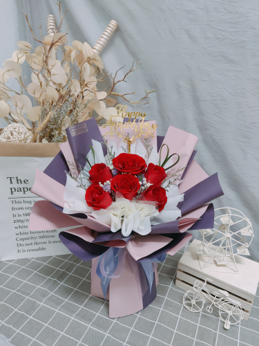 Fresh Red Roses Bouquet 015