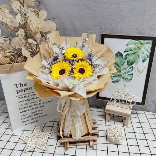 Soap sunflowers bouquet 08