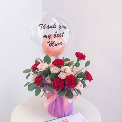 Fresh Flower | Red Carnation In Box