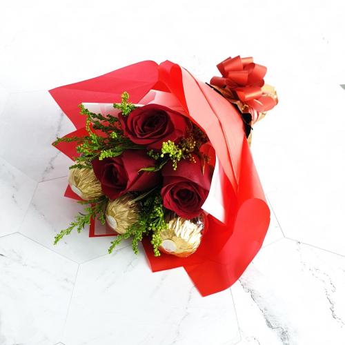 Rose and Ferrero Bouquet