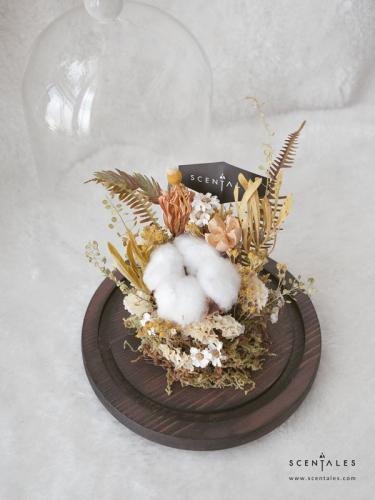 (Pre-order) Hojicha Dried Flower Bell Jar