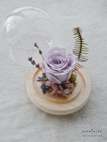 Tender Soul Preserved Flower Glass Globe