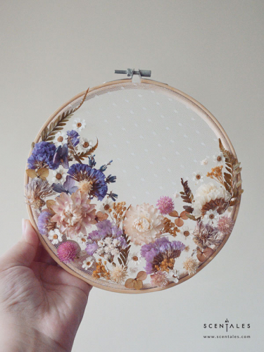 A New Life Dried Flower Hoop