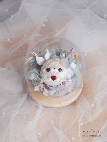 Soya the Seal Preserved Flower Glass Globe