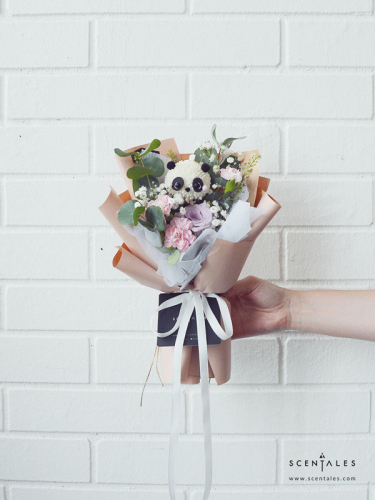 Oreo The Baby Panda Petite Flower Bouquet