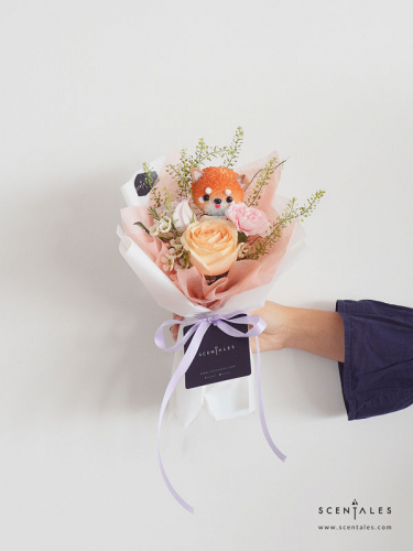 Scentales Chewy The Corgi Petite Flower Bouquet