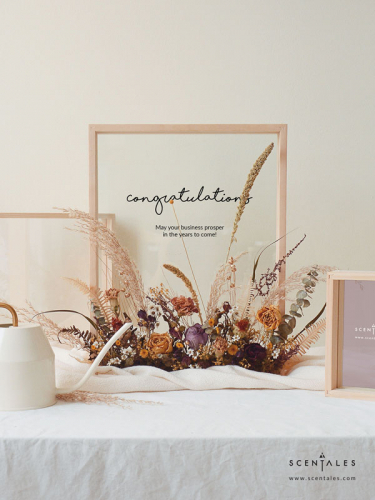 (Pre-order) Autumn Colors Dried Flower Wooden Frame