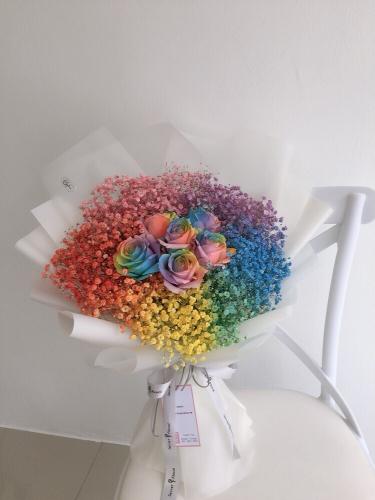 Valentine's V13 rainbow rose