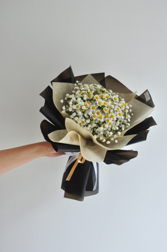 Chamomile baby breath bouquet