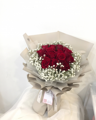 Valentine's Red rose bouquet
