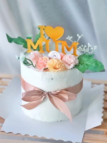 I Love Mum Minimalist Cake