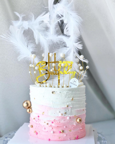 Fairy Feather Crown Cake