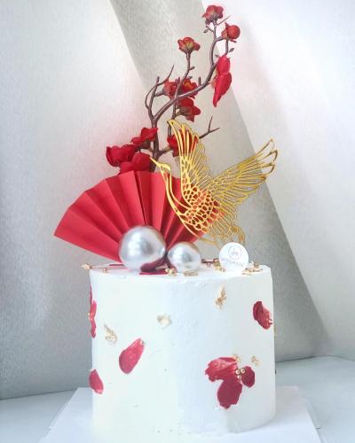 Minimalist Chinese Style Cake