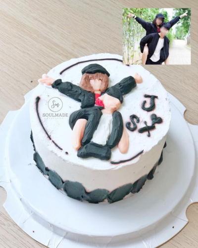Customized Hand Drawn Cake