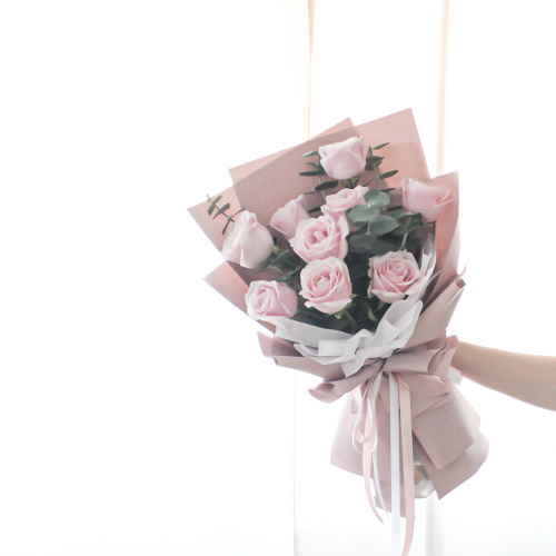 SDTFM14 - ETERNAL Pink Rose Bouquet