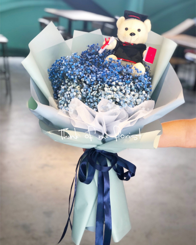 Xl size baby breath graduation bouquet